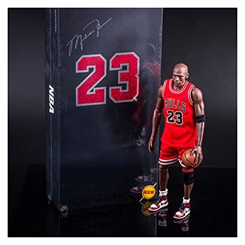 HaneCn NBA Michael Jordan Figura de acción Bulls 23 Ropa Anime PVC Dibujos Animados Regalo Decoraciones de Juguete Baloncesto Deportes Muñeca Adornos X