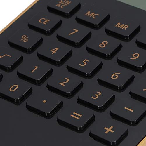 Pinsofy Calculadoras de Escritorio, calculadora Solar, energía Dual Elija Fácil de Leer Delgadas Elegante, Conveniente para Llevar, para la Oficina en casa(Black)