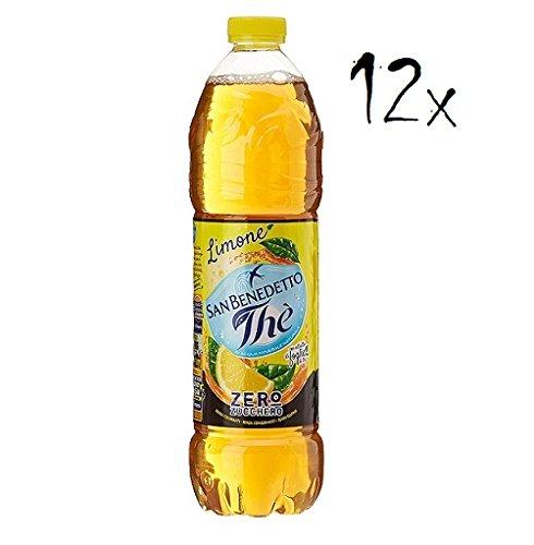 12x San benedetto Zero Eistee The' Zitrone PET 1,5L ohne Zucker tea erfrischend