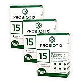 PROBIOTIX | 3 Pack | 15 Billones de Probióticos | 3 Cepas | 90 Cápsulas