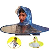 Healthy & Happy Head wear Hand Free Foldable Raincoat Cap Raincoat Umbrella for Fishing Hiking and School (L-Yellow)