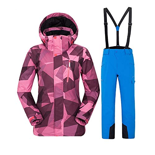 DorisAA-Sports - Juego de chaqueta de esquí para mujer, para esquí al aire libre, conjunto de traje de esquí para hombre, conjunto de traje de nieve, resistente al viento, impermeable, color C11., tamaño XX-Large