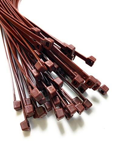 Braun Kabelbinder Extra lange Krawatten 9mm x 900mm Schwerlast Zip 20 Stück