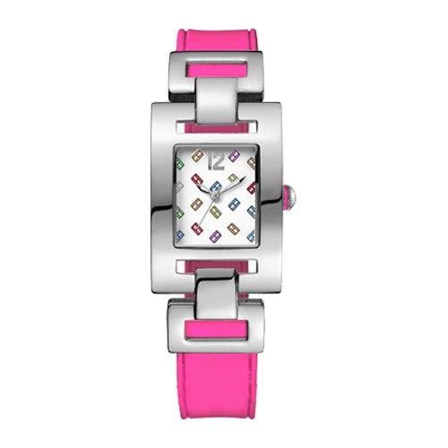Tommy Hilfiger 1781068 - Reloj de Señora movimiento de quarzo, correa de silicona color rosa