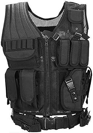Lynn025Keats Kampfweste schwarz Mesh atmungsaktive Mesh-Taktische Feldoperationen Ausrüstung lt B07PBGQKL2     | Verschiedene Arten Und Die Styles