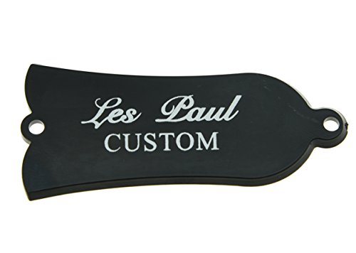 KAISH 2 Ply Bianco/Nero Personalizzato Stampa Truss Rod Cover Per Gibson Style Les Paul LP