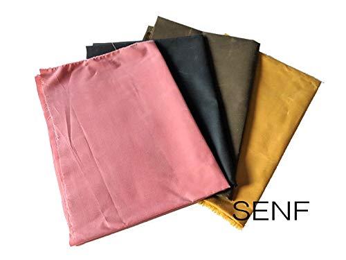 Trend Produkt Oilskin, gewachste Baumwolle als Meterware, Stoff zum Nähen für Bekleidung und Taschen ab 50 cm (Senf)