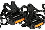 TaiShun Bike Pedals with Toe Clip and Straps,for Mountain Bike,Road Bike and All Kinds of Outdoor Bicycles