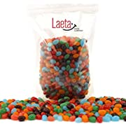 LaetaFood Pack, Jolly Rancher Jelly Beans Candy Original Assorted Flavors - Strawberry Orange Blue Raspberry Watermelon (5 Pound Bulk Pack)