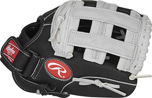 Rawlings Guante De Béisbol Sure Catch Negro/Gris 28 Cm