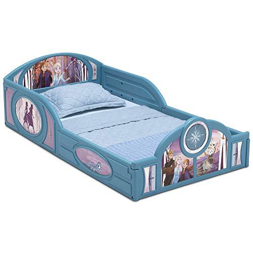 Disney Frozen II Cama infantil de plástico para dormir y jugar con barandillas adjuntas por Delta Children