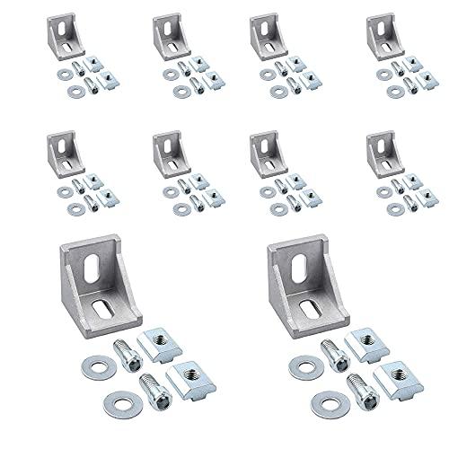 ANGEEK 10 pezzi 4040 connettore ad angolo in alluminio, serie rapida industriale, profilo corner in alluminio