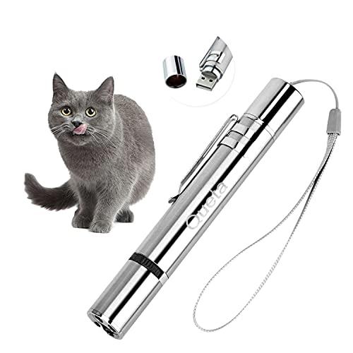 Queta Katzenspielzeug LED Pointer Katzen Hund Spielzeug Haustier Interaktives Spielzeug für Katzen und Hunde mit USB-Direktladung