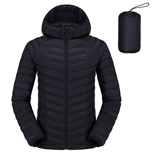 CAMEL CROWN Chaqueta de invierno para hombre, color negro, ligera, parka de...