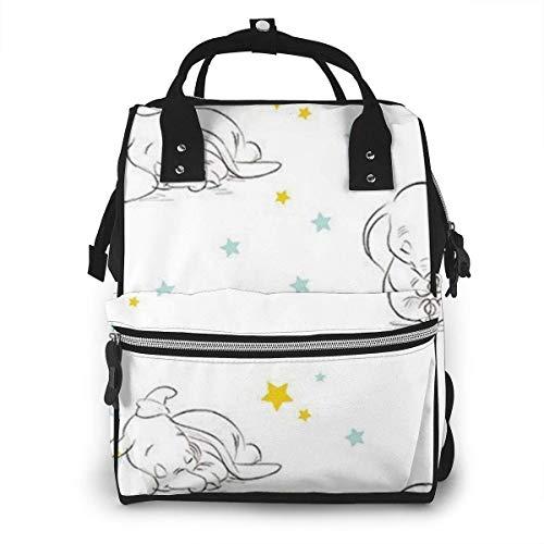 JUKIL Mochila de pañales Dumbo Patterns (2) Mummy Backpack Zipper Travel Daypack Men Women Teens Gift