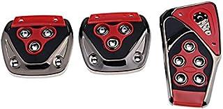 FUN n SHOP Universal Non-Slip Car Pedal Cover Set Kit (Red)