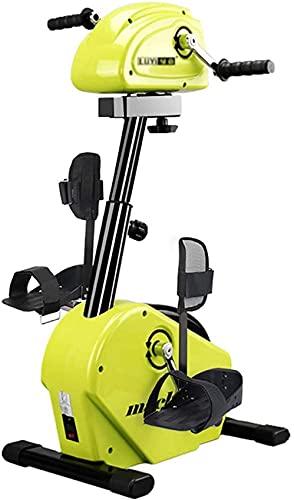 YQG Bicicleta Fija del Ciclo del ejercitador del Pedal del pie de la Bicicleta de la rehabilitación, Resistencia Ajustable  Anti-espasmo Inteligente  para discapacitados y sobrevivientes de AC