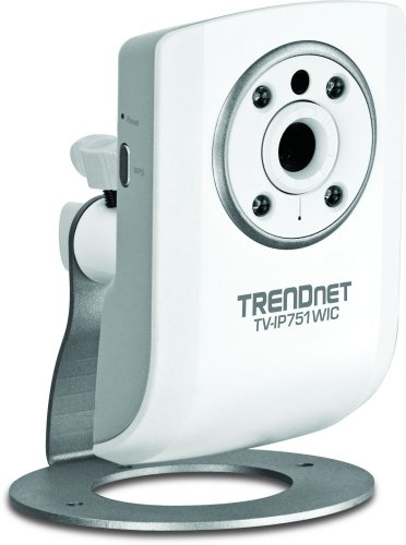 TRENDnet Wireless N Network Cloud Surveillance Camera with 1-Way Audio and Night Vision, TV-IP751WIC (White)