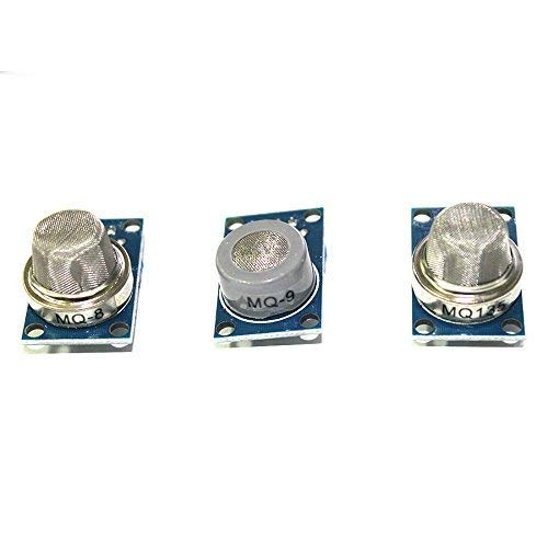 WOWOONE 9pcs Gas Detection Module MQ-2 MQ-3 MQ-4 MQ-5 MQ-6 MQ-7 MQ-8 MQ-9 MQ-135 Sensor Module Each of Them 1pc Total 9pcs Sensor Starter kit