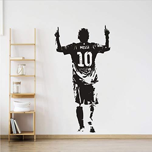 Adesivo Murale Calciatore Adesivo Messi Calcio Star Paper Pvc Messi Adesivi Murali 57X110Cm