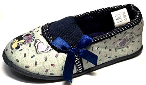 ARNETTA Disney Minnie Pantofole, Ballerine Bimba Art. S22322 Grigio (30 EU)