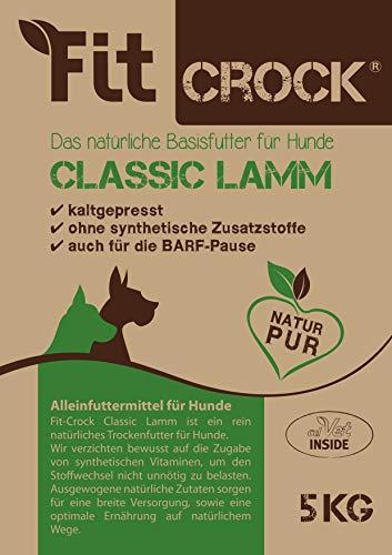 cdVet Naturprodukte Fit-Crock Classic Lamm Maxi 5 kg - Hond - Voeding - juiste voeding - deelbaar - glutenvrij - bevordert vacht + huid - evenwichtige + hoogwaardige ingrediënten - koudgeperst -