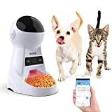 Iseebiz Comedero Automático Gatos/Perros Dispensador de Comida WiFi con App Control Recordatorio por Voz, 3litros