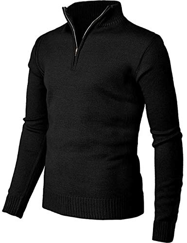 AOLI RAY Mens Golf Jumper Katoen 1/4 Zip Slim Fit Gebreide Trui Tops Pullover