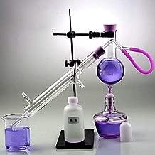Equipo laboratorio YIGEYI 100ml Lab Alcohol/Destilador de Aceite Esencial Hogar Destilador Purificador de Agua Cristalería/Labware Sets 10pcs Kits Labware