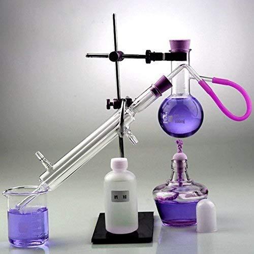 YIGEYI Aparato de destilación del destilador Laboratorio de cristalería Industria científica Destilador de agua para la fabricación de aceites esenciales Destilador de alcohol Purificador Kit de apara