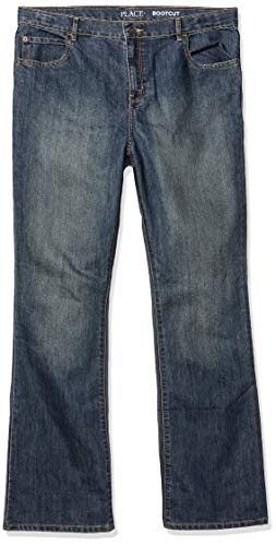 The Children's Place boys Basic Bootcut Jeans Pants, Dustbwlwsh, 12 Slim US