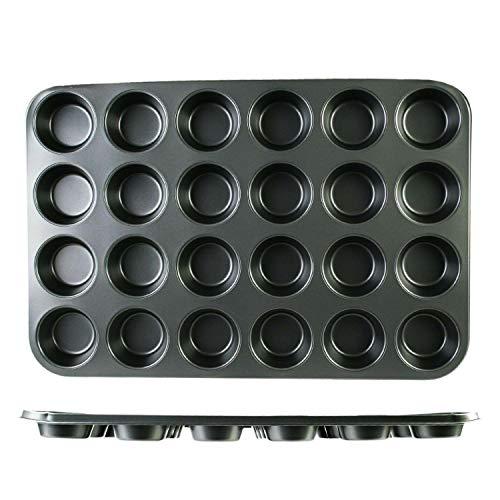 """Nonstick Muffin Pan 24 Standard Cups 3″ Cupcake Baking Stainless Steel """"baking provides Baking pan Baking pans Bread pan Baking set Bakeware units Cookware units Baking sheets Baking pans set"""