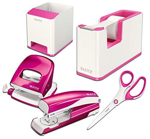 Leitz Wow Schreibtisch Accessoires (Komplett - Set, Weiß ? Pink)