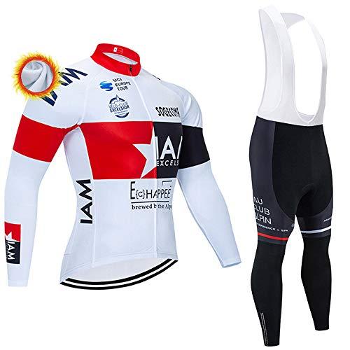 Abbigliamento Ciclismo Uomo Termica Maglia Zip Invernale MTB + Pantaloni Body Ciclismo Abbigliamento Sportivo Completi Ciclismo Professionisti