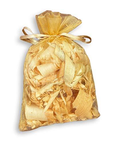 Hagson Zirbenduftsäckchen im Organzabeutel (ca. 13 x 8cm), Tolles Geschenk wunderbarer Duft, steirische Zirbenspäne, Zirbenflocken, Zirbelflocken, Zirbenholzspäne (1)
