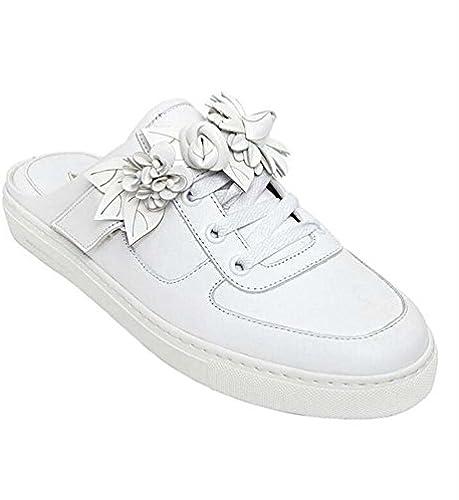 MYI Frauen Casual Hausschuhe Baotou Comfort Loafers Hausschuhe Frühling Frühling Frühling Sommer Weiß Größe 34-40  Auslauf