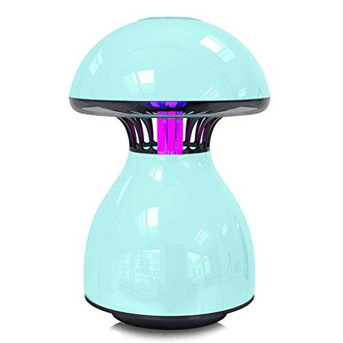Lampe de moustique LED moustique tueur ménage chambre silencieuse Plug in femmes enceintes bébé lumière tactile Media Drive Mosquito lampe (Couleur : Bleu)