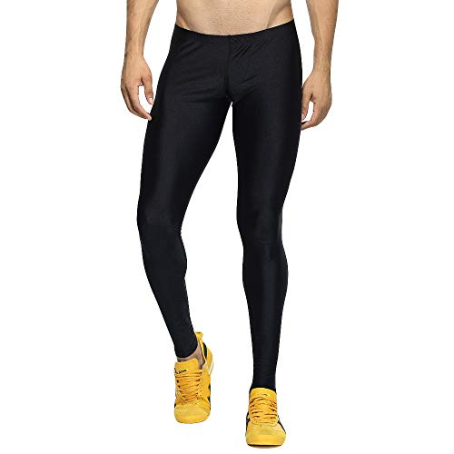 Yowablo Sport Leggings Herren Laufhose Strumpfhose Camouflage Compression Tights Funktionswäsche Quick Dry Kompression Hose für Fitness Gym (XL,2- Schwarz)