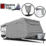 RVMasking Heavy Duty 5 Layers Top Travel Trailer RV Cover, Fits 22'1'...