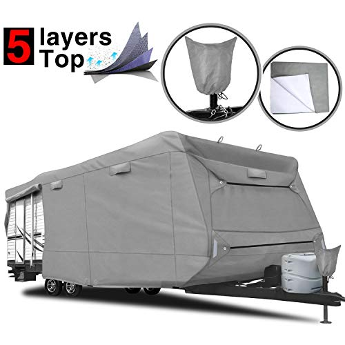 RVMasking 5-ply Top Travel Trailer RV Cover, Fits 24'1