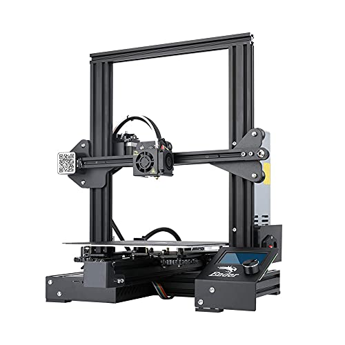 3D Printer Creality Ender 3 Pro 3D Printer with UL Certified Meanwell Power Supply Upgraded Ender 3 with Magnetic Surface Plate Printing Size 8.6x8.6x9.8in/220x220x250MM for Beginners