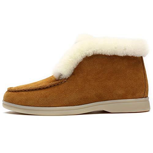 WZRY 2020 Botas de Nieve Mujer Planas de Moda Casual Zapatos cómodos y duraderos de Felpa Gruesa para el Invierno Antideslizante Ligero Botines Que CaminanA-41