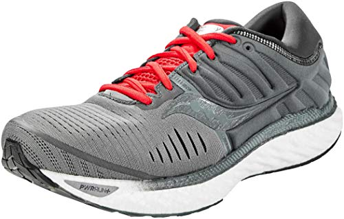 Saucony Men's S20544-30 Hurricane 22 Running Shoe, Charcoal | Red - 10.5 M US