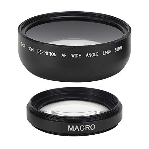 Goshyda 52MM 0,45X Weitwinkel-Makroobjektiv Aluminiumlegierung + optisches Glas Material Szenen Aufnahmeobjektiv für 52MM Durchmesser Alle Objektive