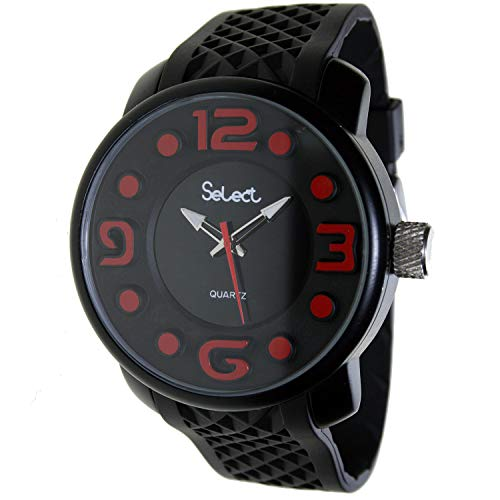 Select Fr-30 Reloj Analogico para Hombre Caja De Laton Esfera Color Negro