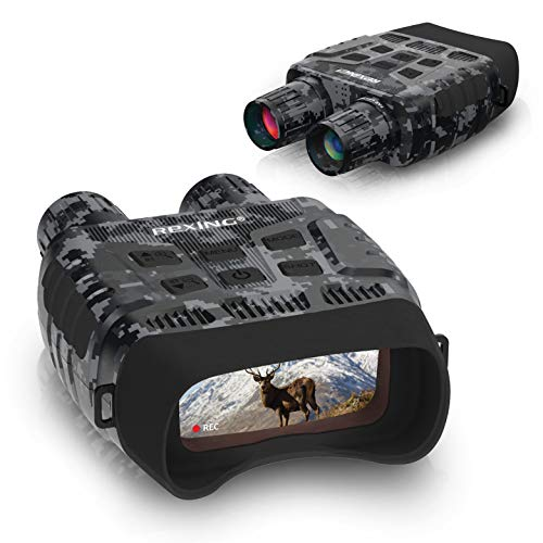 Rexing B1 (Digital Camo) Night Vision Goggles Binoculars with LCD Screen, Infrared (IR) Digital Camera, Dual Photo + Video Recording for Spotting, Hunting, Tracking up to 300 Meters