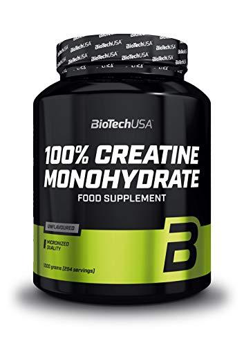 BioTechUSA 100% Creatine Monohydrate Pharmazeutisch reines Creatin-Monohydrat-Pulver, Glutenfrei, ohne Geschmack, 1 kg