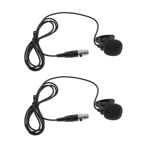Harilla 2 Stück 4 Poliger Mikrofonkondensator Kabelbinder für PC Funksender