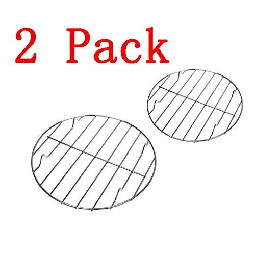 PETSOLA Set Von 2 Edelstahl Grill Grill BBQ Rack Runde Mesh 22,25 cm