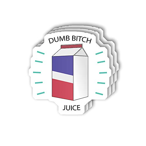 msgolbi 3 PCs Stickers Dumb Bitch Juice Sticker for Laptop, Phone, Cars, Vinyl Funny Stickers Decal for Laptops, Fridge